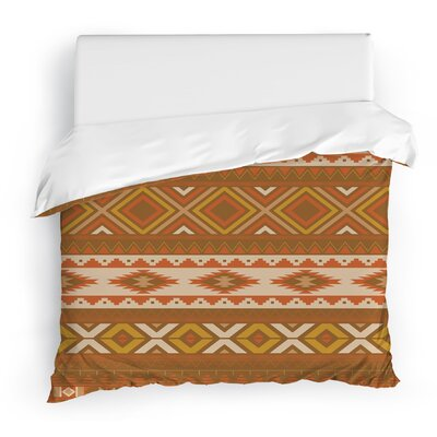 Sedona Duvet Cover Color: Red/Gold/Brown/Tan, Size: Twin