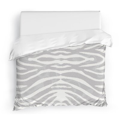 Nerbone Duvet Cover Size: Full/Queen, Color: Gray/Ivory