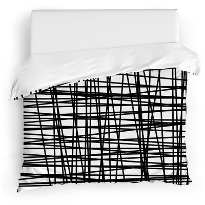 Lines Duvet Cover Size: Full/Queen