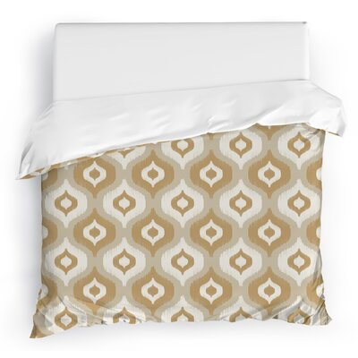 Harmony Duvet Cover Color: Gold/Ivory, Size: Full/Queen