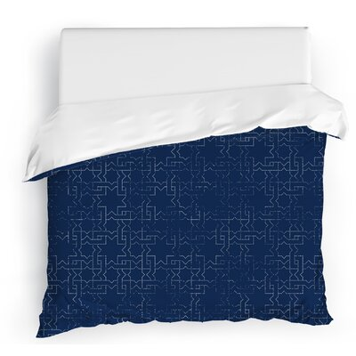 Gridlocked Duvet Cover Size: King