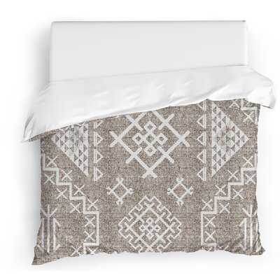 Cyrill Duvet Cover Color: White, Size: Full/Queen