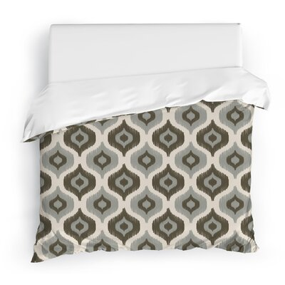 Harmony Duvet Cover Size: King, Color: Ivory/Gray