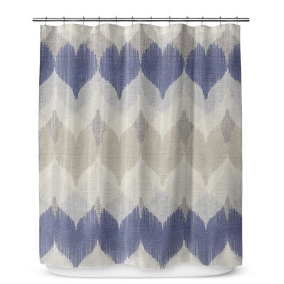 Dylan Cotton Blend Shower Curtain Size: 72 H x 70 W, Color: Brown/Tan