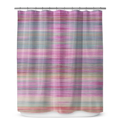 Ishee Cotton Blend Shower Curtain Size: 90 H x 70 W