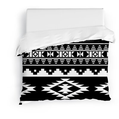 Cherokee Duvet Cover Size: King, Color: Black