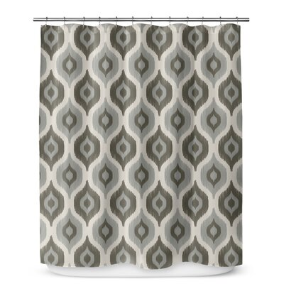 Underhill Cotton Blend Shower Curtain Color: Tan/ Ivory, Size: 72 H x 70 W