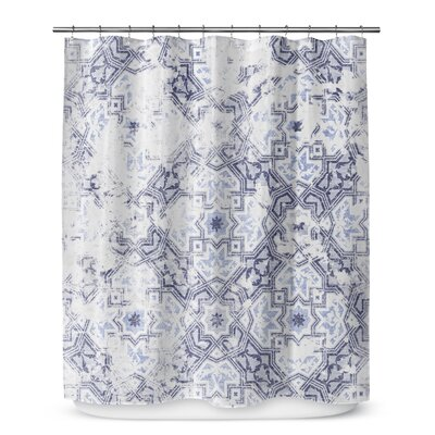 Esther Shower Curtain Color: Blue