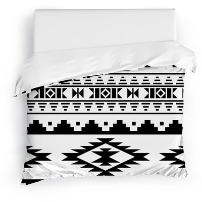 Cherokee Duvet Cover Size: King, Color: Black/White