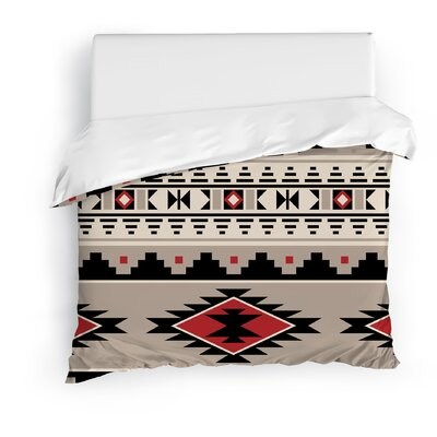 Cherokee Duvet Cover Size: Full/Queen, Color: Red