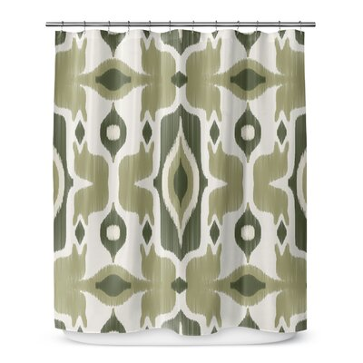 Cosmos Shower Curtain Color: Green