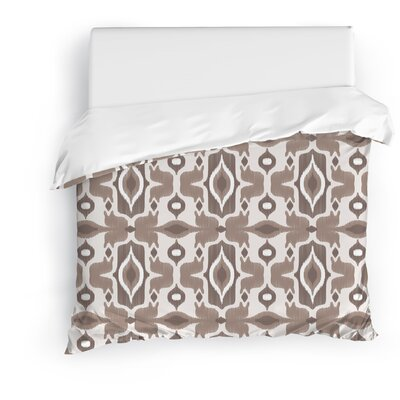 Mojave Duvet Cover Size: Twin, Color: Ivory/Brown