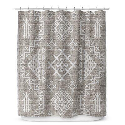 Cyrill Shower Curtain Color: White