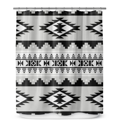 Fleur Geometric Shower Curtain Color: Gray