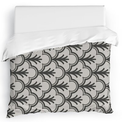 Seville Black Duvet Cover Color: Black, Size: Full/Queen
