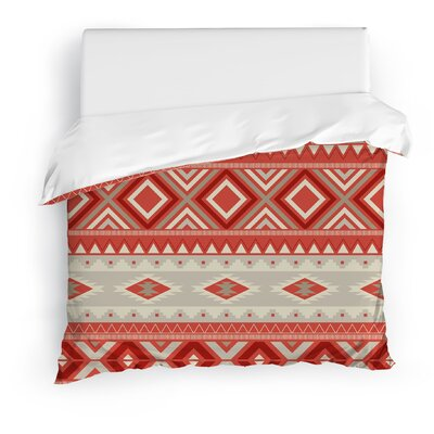 Cabarley Duvet Cover Size: Full/Queen, Color: Red