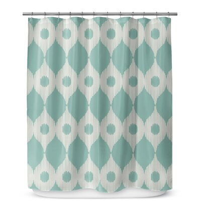 Forrest Rain Shower Curtain Color: Light Blue