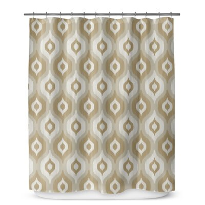 Underhill Ikat Shower Curtain Color: Brown