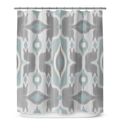 Cosmos Shower Curtain Color: Blue