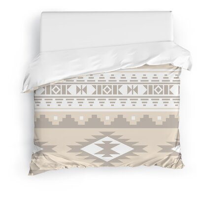 Cherokee Duvet Cover Color: Beige, Size: Full/Queen