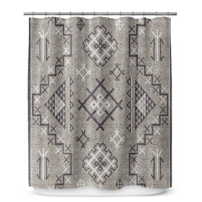 Cyrill Shower Curtain Color: Coal