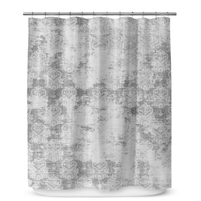 Victoire Gray Shower Curtain Color: Gray
