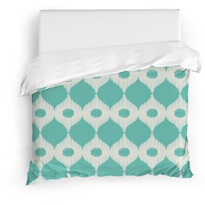 Forrest Rain Duvet Cover Size: Full/Queen, Color: Ivory/Blue