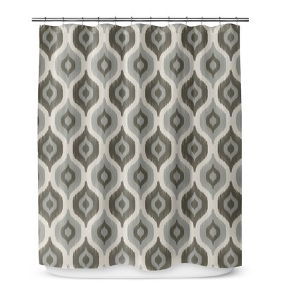 Underhill Ikat Shower Curtain Color: Gray