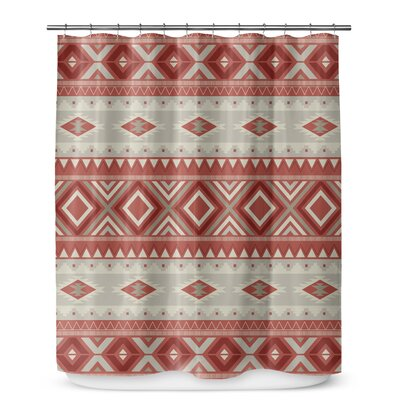 Cabarley Shower Curtain Color: Red