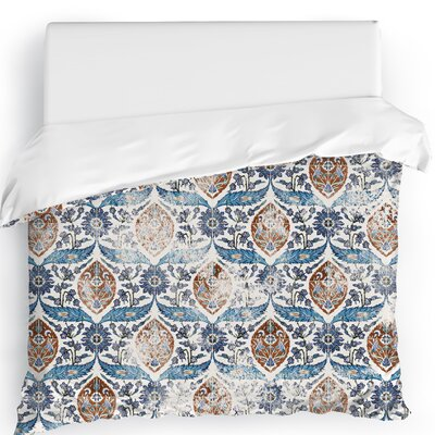 Estancia Duvet Cover Color: Blue, Size: Full/Queen