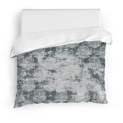 Cataleya Duvet Cover Color: Dark Gray, Size: Twin