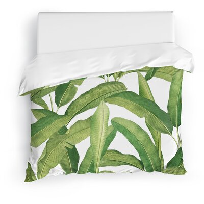 Banana Leaves Duvet Cover Size: Full/Queen