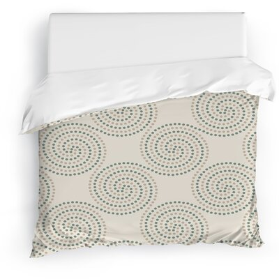 Clouds Duvet Cover Size: Twin, Color: Ivory/Blue/Gray