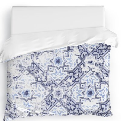 Esther Duvet Cover Size: King, Color: Blue