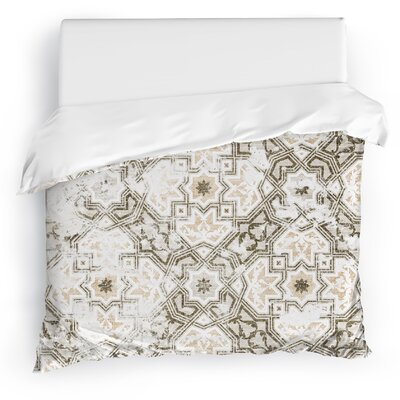Esther Duvet Cover Size: King, Color: Gray