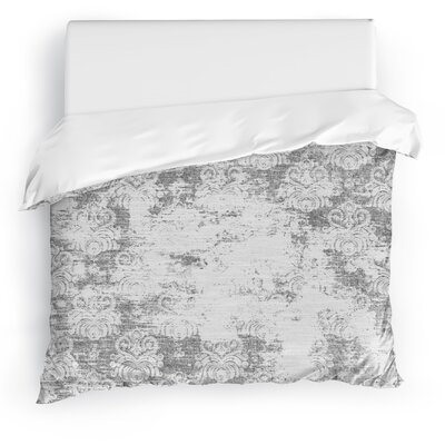 Cataleya Duvet Cover Size: Full/Queen, Color: Light Gray