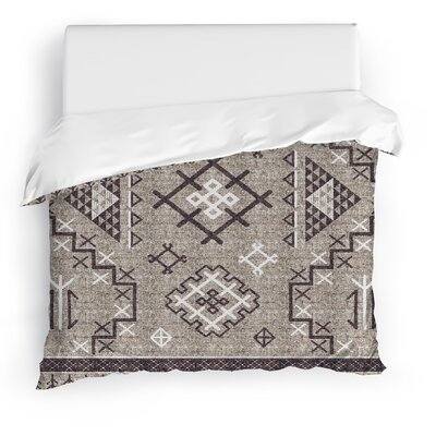 Cyrill Duvet Cover Size: Full/Queen, Color: Brown
