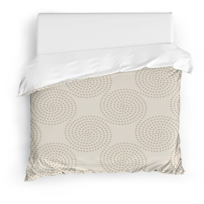 Clouds Duvet Cover Size: Full/Queen, Color: Taupe