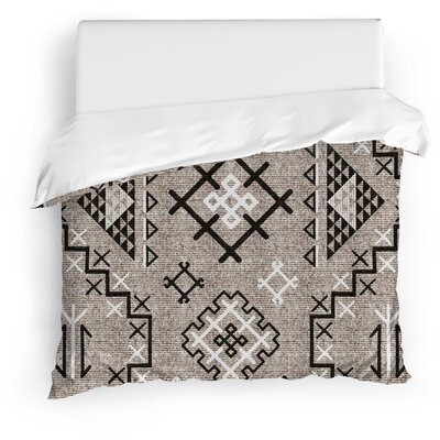 Cyrill Duvet Cover Size: Full/Queen, Color: Black
