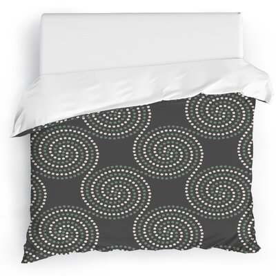 Clouds Duvet Cover Size: Twin, Color: Gray