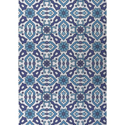 Kaleidoscope Indoor/Outdoor Doormat Color: Blue