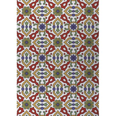 Kaleidoscope Indoor/Outdoor Doormat Color: Red/ Purple/ Gold