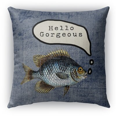 Ellenburg Good Morning Gorgoues Burlap Indoor/Outdoor Throw Pillow Size: 18