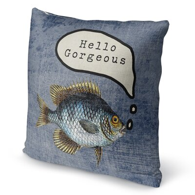 Ellenburg Good Morning Gorgoues Burlap Throw Pillow Size: 18 H x 18 W x 5 D
