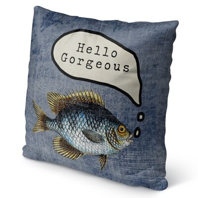 Ellenburg Good Morning Gorgoues Burlap Indoor/Outdoor Throw Pillow Size: 26 H x 26 W x 5 D