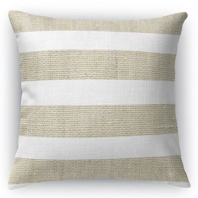 Centerville Throw Pillow Size: 16 H x 16 W x 5 D, Color: Beige