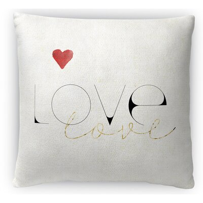 Love Love Fleece Throw Pillow Size: 18 H x 18 W