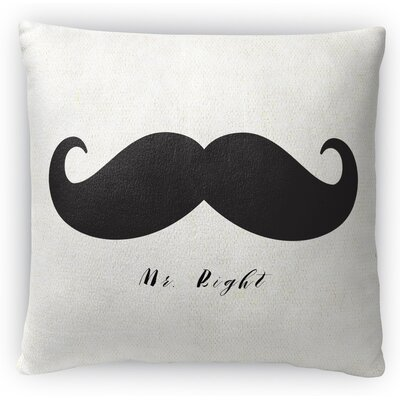 Mr Right Fleece Throw Pillow Size: 18 H x 18 W