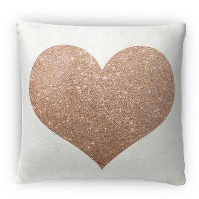 Heart Fleece Throw Pillow Size: 18 H x 18 W