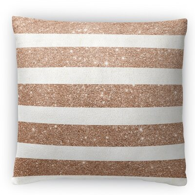 Stripes Fleece Throw Pillow Size: 16 H x 16 W